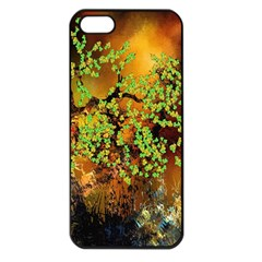 Backdrop Background Tree Abstract Apple iPhone 5 Seamless Case (Black)