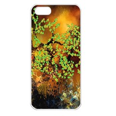 Backdrop Background Tree Abstract Apple iPhone 5 Seamless Case (White)