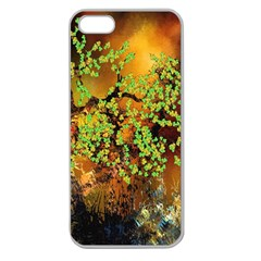 Backdrop Background Tree Abstract Apple Seamless iPhone 5 Case (Clear)