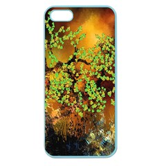 Backdrop Background Tree Abstract Apple Seamless iPhone 5 Case (Color)