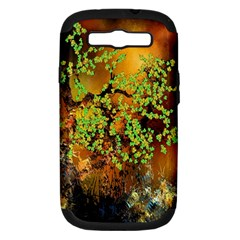 Backdrop Background Tree Abstract Samsung Galaxy S III Hardshell Case (PC+Silicone)