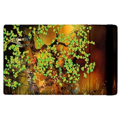 Backdrop Background Tree Abstract Apple iPad 2 Flip Case