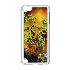 Backdrop Background Tree Abstract Apple iPod Touch 5 Case (White)