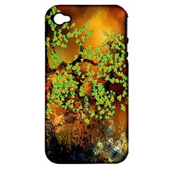 Backdrop Background Tree Abstract Apple iPhone 4/4S Hardshell Case (PC+Silicone)