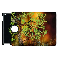 Backdrop Background Tree Abstract Apple iPad 2 Flip 360 Case