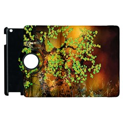 Backdrop Background Tree Abstract Apple iPad 3/4 Flip 360 Case