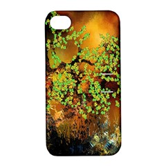 Backdrop Background Tree Abstract Apple iPhone 4/4S Hardshell Case with Stand