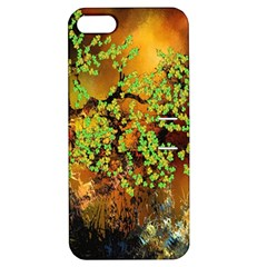 Backdrop Background Tree Abstract Apple iPhone 5 Hardshell Case with Stand