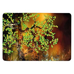 Backdrop Background Tree Abstract Samsung Galaxy Tab 8.9  P7300 Flip Case