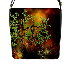 Backdrop Background Tree Abstract Flap Messenger Bag (L)
