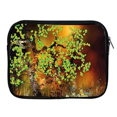 Backdrop Background Tree Abstract Apple iPad 2/3/4 Zipper Cases
