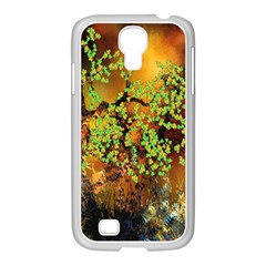 Backdrop Background Tree Abstract Samsung GALAXY S4 I9500/ I9505 Case (White)