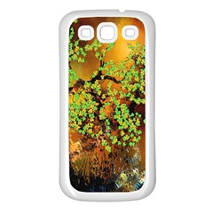 Backdrop Background Tree Abstract Samsung Galaxy S3 Back Case (White)
