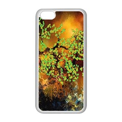 Backdrop Background Tree Abstract Apple iPhone 5C Seamless Case (White)