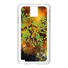 Backdrop Background Tree Abstract Samsung Galaxy Note 3 N9005 Case (White)