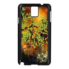Backdrop Background Tree Abstract Samsung Galaxy Note 3 N9005 Case (Black)