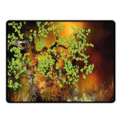 Backdrop Background Tree Abstract Double Sided Fleece Blanket (Small)