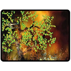 Backdrop Background Tree Abstract Double Sided Fleece Blanket (Large)