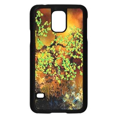 Backdrop Background Tree Abstract Samsung Galaxy S5 Case (Black)