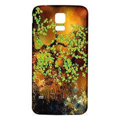 Backdrop Background Tree Abstract Samsung Galaxy S5 Back Case (White)