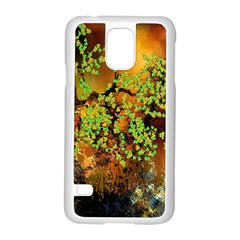 Backdrop Background Tree Abstract Samsung Galaxy S5 Case (White)