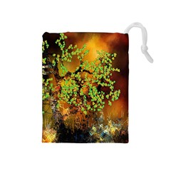Backdrop Background Tree Abstract Drawstring Pouches (Medium)