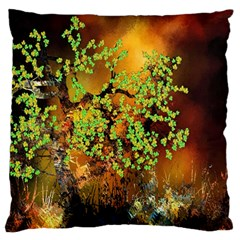 Backdrop Background Tree Abstract Large Flano Cushion Case (Two Sides)