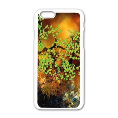 Backdrop Background Tree Abstract Apple iPhone 6/6S White Enamel Case