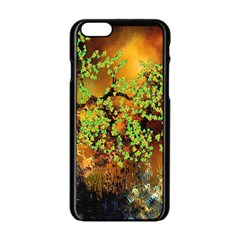 Backdrop Background Tree Abstract Apple iPhone 6/6S Black Enamel Case