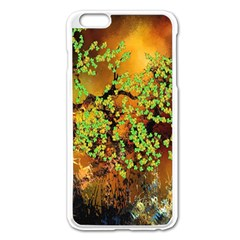 Backdrop Background Tree Abstract Apple iPhone 6 Plus/6S Plus Enamel White Case