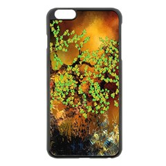 Backdrop Background Tree Abstract Apple iPhone 6 Plus/6S Plus Black Enamel Case