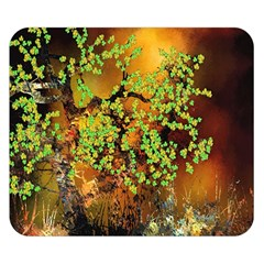 Backdrop Background Tree Abstract Double Sided Flano Blanket (Small)