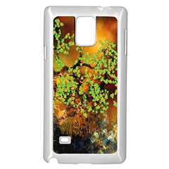 Backdrop Background Tree Abstract Samsung Galaxy Note 4 Case (White)