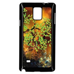 Backdrop Background Tree Abstract Samsung Galaxy Note 4 Case (Black)