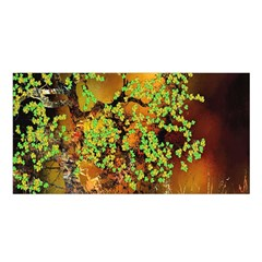 Backdrop Background Tree Abstract Satin Shawl by Nexatart
