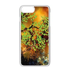 Backdrop Background Tree Abstract Apple iPhone 7 Plus White Seamless Case