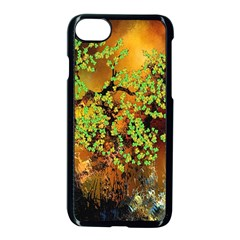 Backdrop Background Tree Abstract Apple iPhone 7 Seamless Case (Black)
