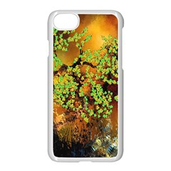 Backdrop Background Tree Abstract Apple iPhone 7 Seamless Case (White)