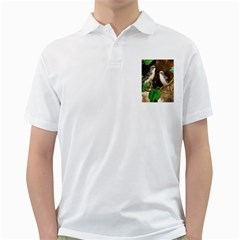 Backdrop Colorful Bird Decoration Golf Shirts