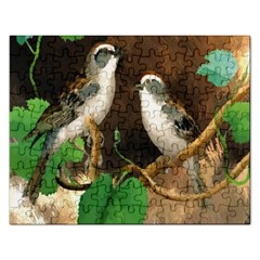 Backdrop Colorful Bird Decoration Rectangular Jigsaw Puzzl by Nexatart