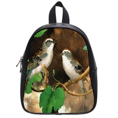 Backdrop Colorful Bird Decoration School Bags (small)  by Nexatart