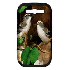 Backdrop Colorful Bird Decoration Samsung Galaxy S Iii Hardshell Case (pc+silicone) by Nexatart