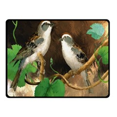 Backdrop Colorful Bird Decoration Double Sided Fleece Blanket (small)