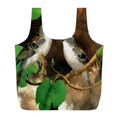 Backdrop Colorful Bird Decoration Full Print Recycle Bags (l)  by Nexatart
