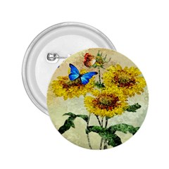 Backdrop Colorful Butterfly 2 25  Buttons