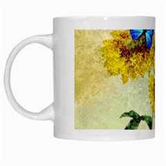 Backdrop Colorful Butterfly White Mugs