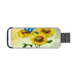 Backdrop Colorful Butterfly Portable Usb Flash (one Side)