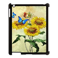 Backdrop Colorful Butterfly Apple Ipad 3/4 Case (black)