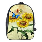 Backdrop Colorful Butterfly School Bags (XL)  Front