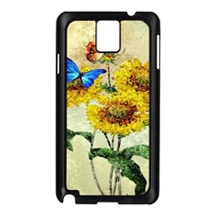 Backdrop Colorful Butterfly Samsung Galaxy Note 3 N9005 Case (black)
